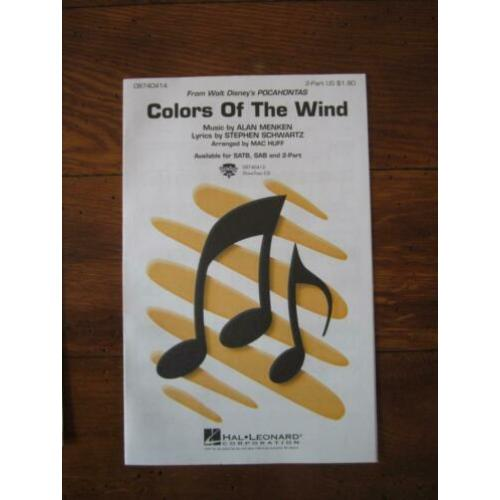 bladmuziek Colors Of The Wind , Pocahontas