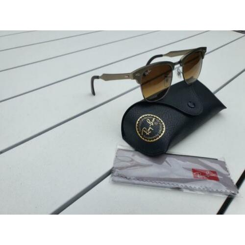 Ray ban rb3507 clubmaster aluminium/gold. Nieuwstaat size 49